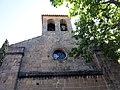 009 Santa Maria de Talamanca, campanar i rosassa.JPG