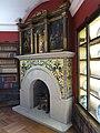 024 Monestir de Sant Benet de Bages, estances de Ramon Casas, llar de foc de la sala del piano.jpg