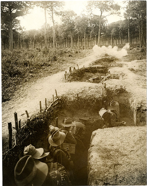 File:1-1 Gurkha bombing party practising bombing in a trench with live bombs (Photo 24-148).jpg