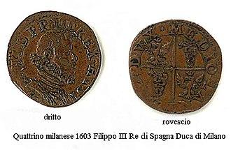 Quattrino - Image: 1603 quattrino milanese