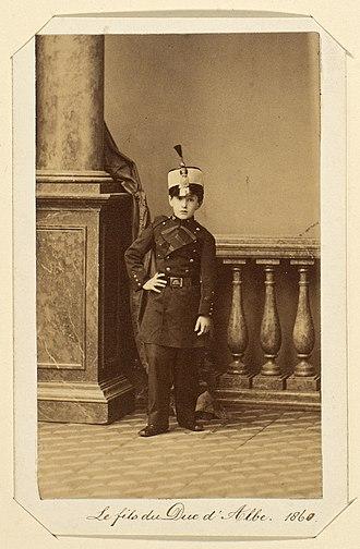 Carlos María Fitz-James Stuart, 16th Duke of Alba - The 16th Duke of Alba aged 11 in uniform of the War of Africa, 1860