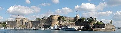Photographie panoramique du château de Brest
