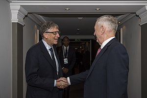 Bill Gates - Gates meets with U.S. Secretary of Defense James Mattis, February 2017