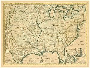 Guillaume Delisle - Delisle's 1718 Carte de la Louisiane
