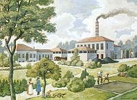1825 Alte Gasanstalt Hannover zw. Glocksee und Ihme, von Leonhard Körting 1922 für Deutsches Museum München.jpg