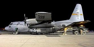 182d Airlift Wing - C-130H3 at Kandahar, 2010