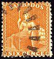 1875ca 6p Barbados perf12² Yv30 Mi29aA SG70.jpg