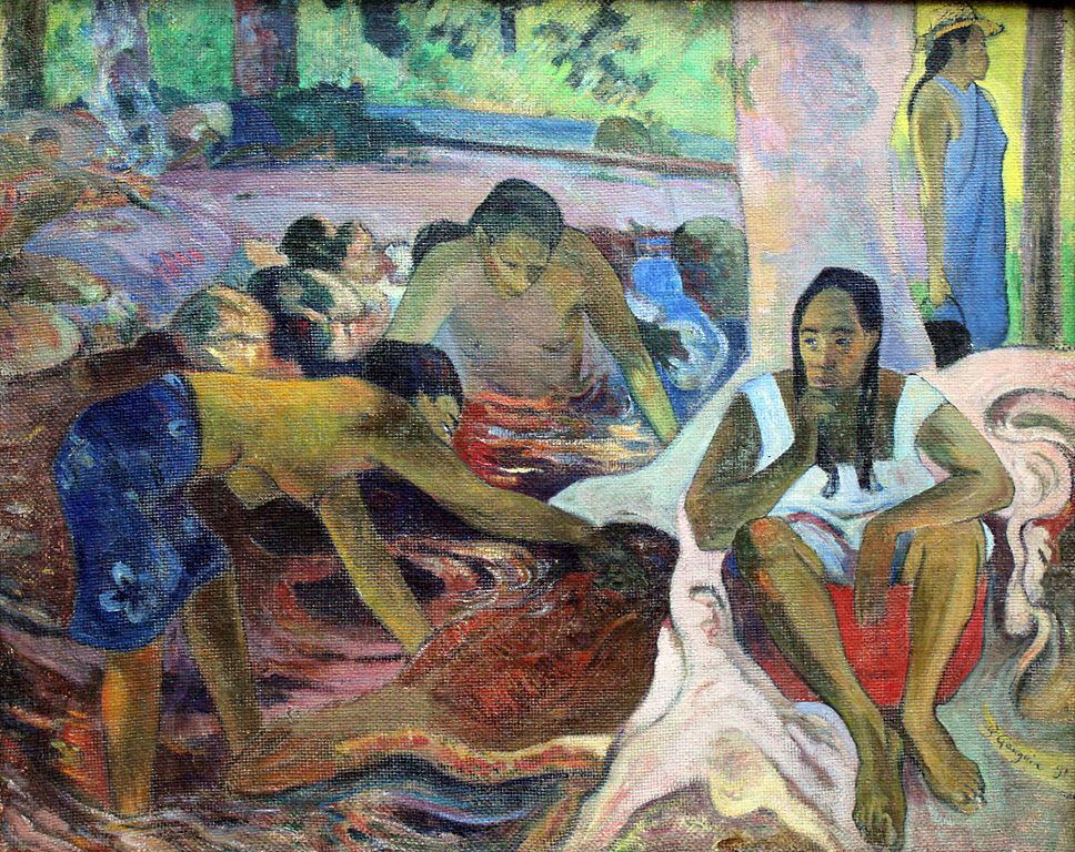 Pêcheuses tahitiennes de Paul Gauguin (1891) au musée Alte Nationalgalerie.
