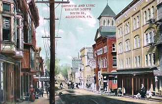 Miller Symphony Hall - The Lyric and Orphum Theaters, shown in 1900