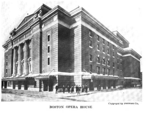 Boston Opera Company - The 1909 Boston Opera House, circa 1913