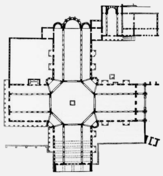 Floor plan of the Church of Saint Simeon Stylites in Aleppo