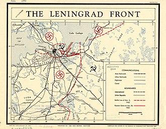 Leningrad Front - CIA map 1943