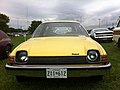 1977 AMC Pacer DL station wagon yellow-d Mason-Dixon Dragway 2014.jpg