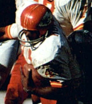 Robert Holmes (American football) - Holmes playing for the Chiefs in the 1969 AFL championship game.