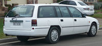 White station wagon automobile