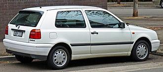 Volkswagen Golf Mk3 - 1995–1996 Volkswagen Golf CL 3-door hatchback (Australia)