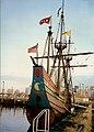 1995 Replica of Halve Maen docked at Liberty Park, Jersey City, New Jersey.jpg
