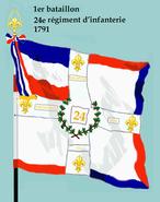 1er bataillon 24e rég inf 1791