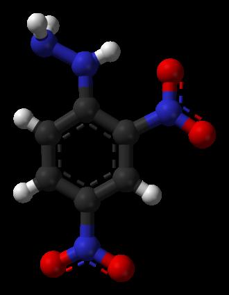 2,4-Dinitrophenylhydrazine - Image: 2,4 dinitrophenylhydrazi ne from xtal 3D balls