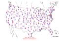 2005-09-19 Max-min Temperature Map NOAA.png