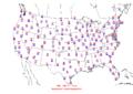 2006-06-25 Max-min Temperature Map NOAA.png