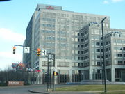 Eli Lilly and Company's global headquarters, in Indianapolis, Indiana, United States
