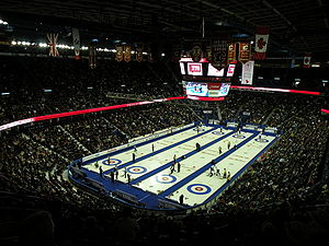 2009 Tim Hortons Brier - The Pengrowth Saddledome was the host arena of the Brier