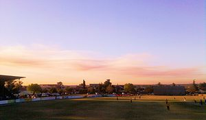 Lenasia - Crescent Hawks and Cavalier Cats cricket match - Lenasia Cricket Stadium in September 2011.