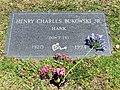 2014-05-13 Henry Charles Bukowski Jr. gravestone, Green Hills, Los Angeles.jpg