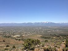 "2014-06-13 12 25 37 View of Spring Creek, Nevada from the summit of ""E"" Mountain in the Elko Hills of Nevada.JPG"