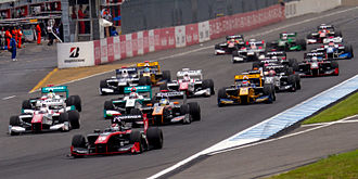 Super Formula Championship - Start of the race at the 2014 Motegi round.