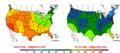 2015-10-11 Color Max-min Temperature Map NOAA.png