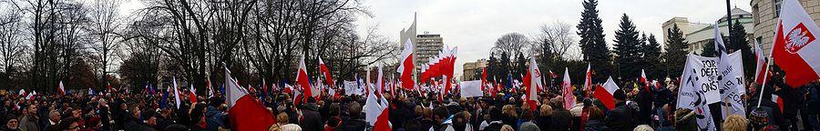 """Manifestacja """"Obywatele dla demokracji"""", 19 grudnia 2015, Warszawa"""