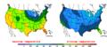 2016-04-03 Color Max-min Temperature Map NOAA.png