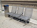 2017-09-14 (124) Grey metal seats at Bahnhof Neulengbach.jpg