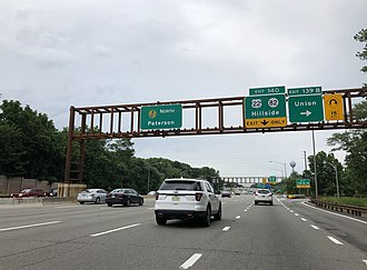 Union Township, Union County, New Jersey - View north along the Garden State Parkway in Union