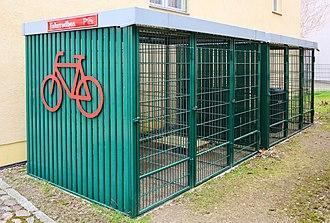 Bicycle parking station - lockable bike box in Angermünde, Germany