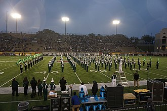 Eastern Michigan University Marching Band - The Eastern Michigan University Marching Band performing at the 2018 Camellia Bowl.