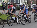 2018 Tour of Britain stage 2 193 Bob Jungels and 192 Julian Alaphilippe.JPG