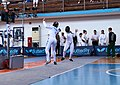 2nd Leonidas Pirgos Fencing Tournament. Nikoletta Chatzisarantou scores a touch.jpg