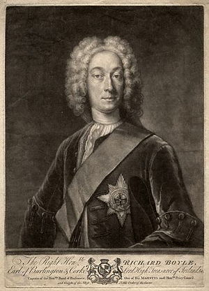 Richard Boyle, 3rd Earl of Burlington - Mezzotint of Burlington