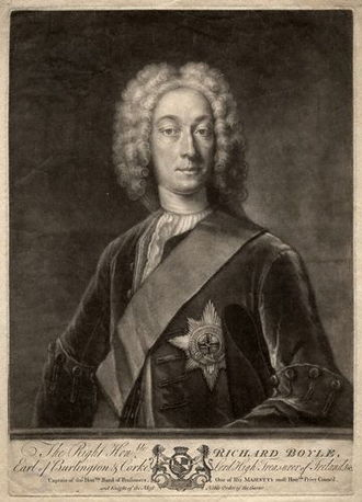 Richard Boyle, 3rd Earl of Burlington - Mezzotint of Burlington