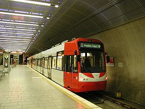 Stadtbahn - Cologne Stadtbahn at Bensberg in 2005