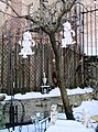 47 Seaman Avenue statuettes in the snow 2.jpg