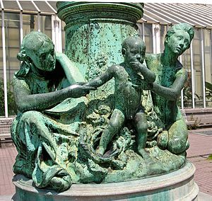 Jules Lagae - Four Ages of Man, at the Botanical Garden of Brussels