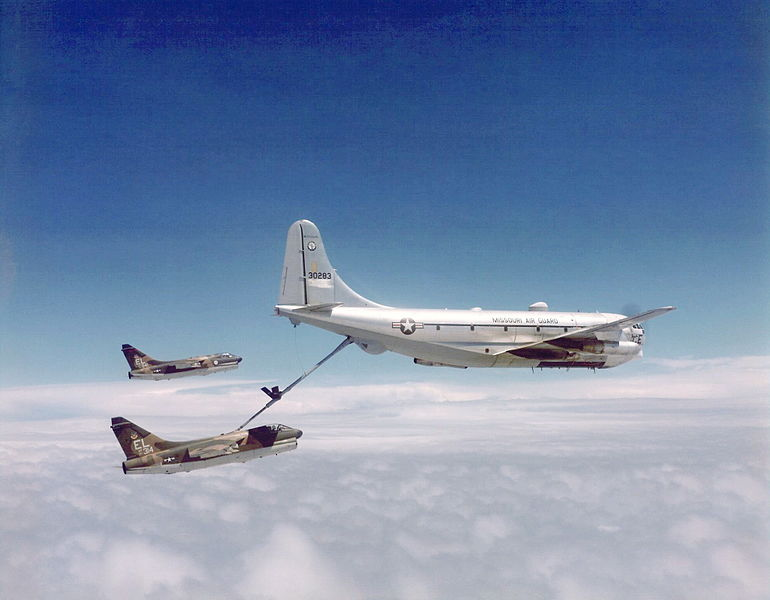 File:76th Tactical Fighter Squadron A-7D 71-0314 Refueling.jpg