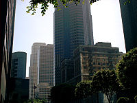 Companies such as Ernst & Young, Aon, Manulife Financial, Paul, Hastings, Janofsky & Walker, City National Bank, and the Union Bank of California have offices in the Downtown Financial District