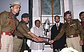 A. K. Antony presented the trophy for the best marching contingent among paramilitary and other auxiliary marching contingents at the Republic Day Parade 2009 to the CRPF, at a function, in New Delhi on February 20, 2009.jpg
