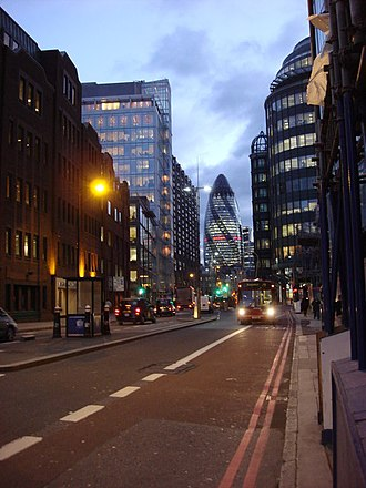 Bishopsgate - Looking south from Norton Folgate down Bishopsgate.