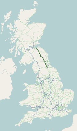 A68 road map